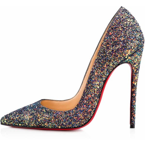 So Kate 120 China Blue Glitter - Women Shoes - Christian Louboutin ( 695) ❤  liked on Polyvore featuring shoes 8e05cea5d0