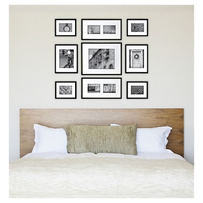 Gallery Perfect 9 Piece Multi Size Wall Frame Set Black Wall Frame Set Frames On Wall Gallery Wall