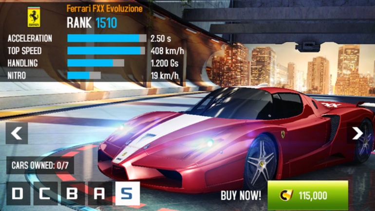 hack asphalt 8 trên windows phone