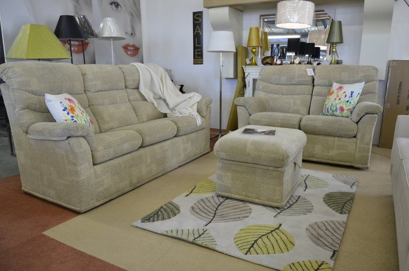Living : Malvern 3 and 2 Seater Sofas and Footstool
