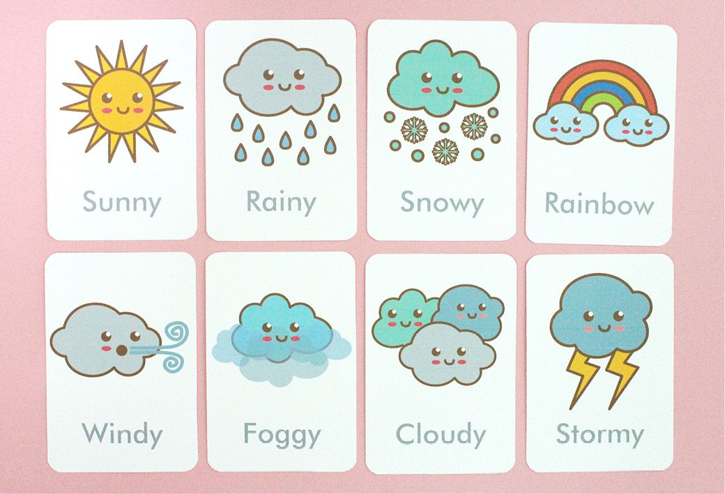 Free Printable: Weather Flash Cards | education ...