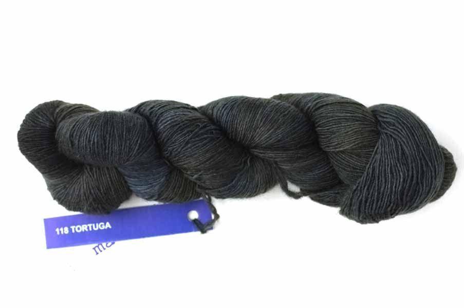 Malabrigo Lace yarn, Tortuga, off-black, color 118, lace weight