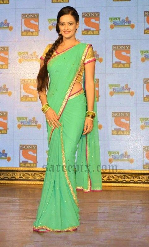 Jasveer Kaur In Saree At Krishna Kanhaiya Serial Launch Hindi Tv