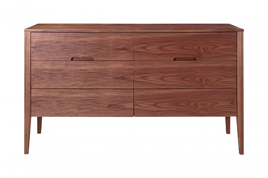 Best Karla Mid Century Modern Buffet Walnut Furniture 640 x 480