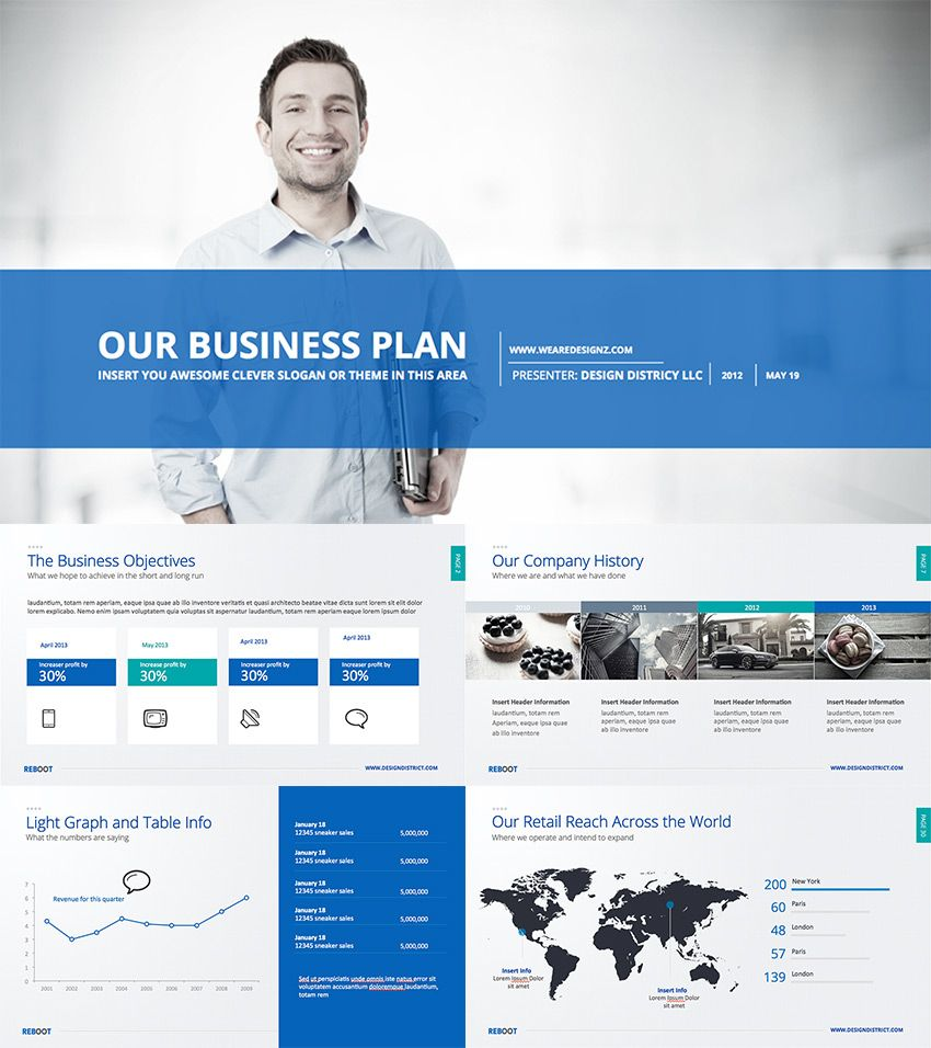 Business Plan Modern PowerPoint Design Deck Business