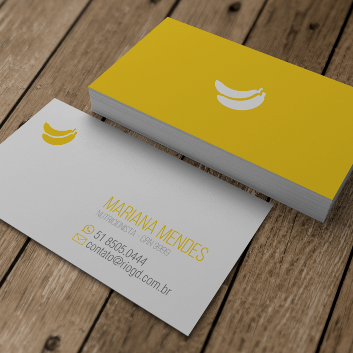 Muitas vezes cartao-de-visita-nutricionista-banana | Paper Cool ☑ - 2  RN82