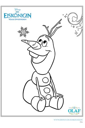Ausmalbild Olaf Disney Ausma