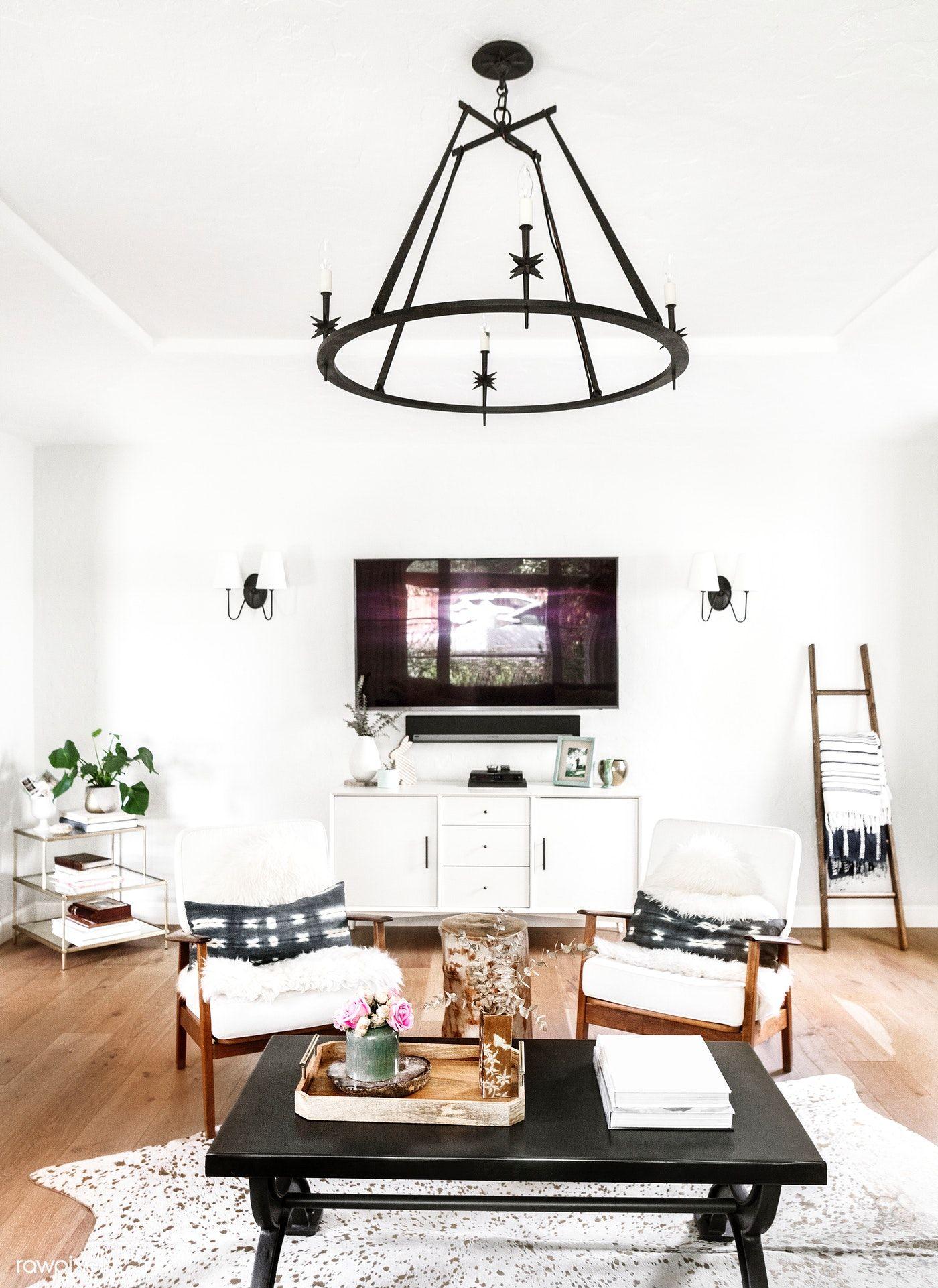 Download Premium Image Of Minimal Aesthetic Living Room Decor 1211437