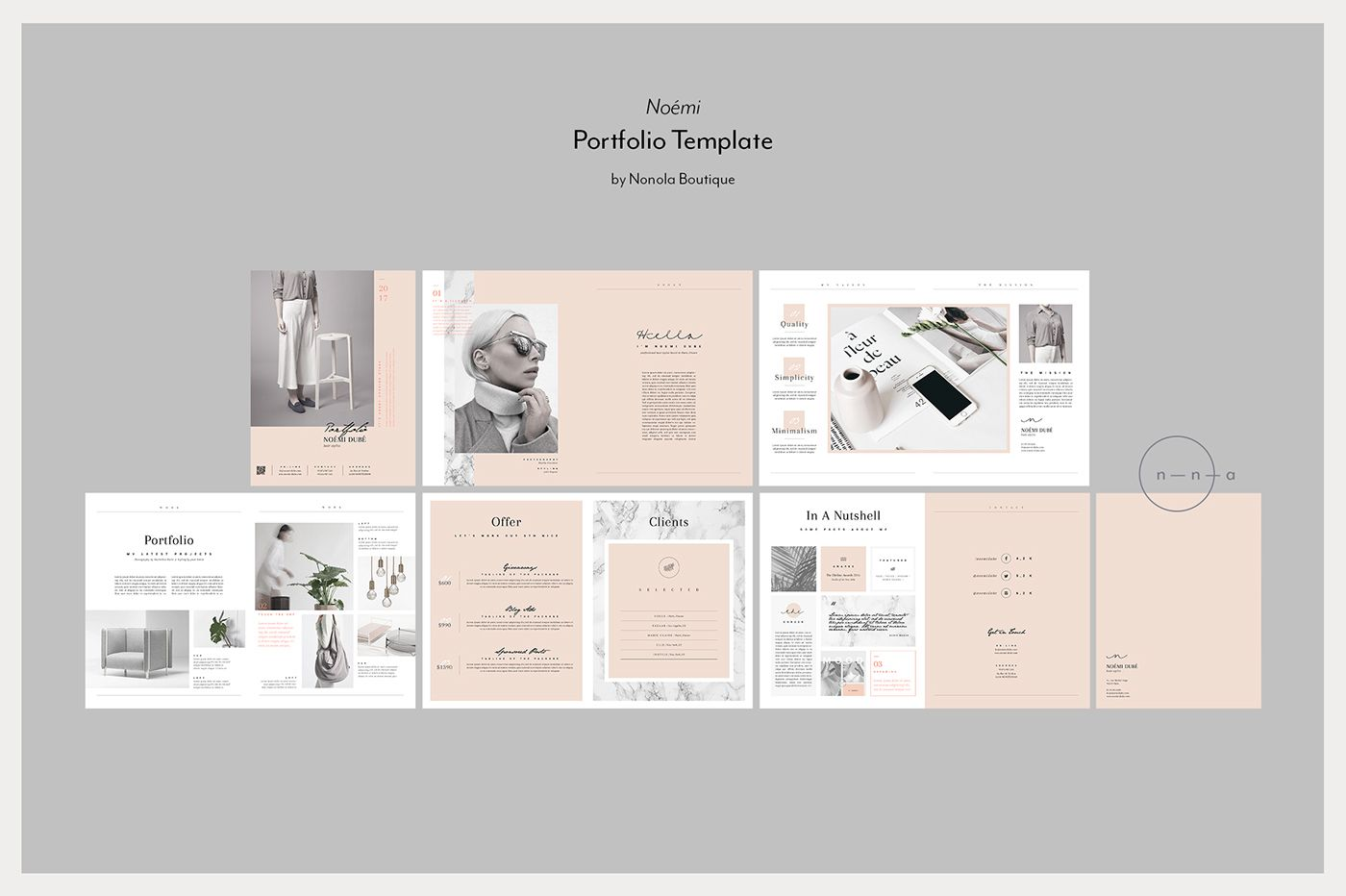 noÉmi portfolio template on behance デザイン pinterest