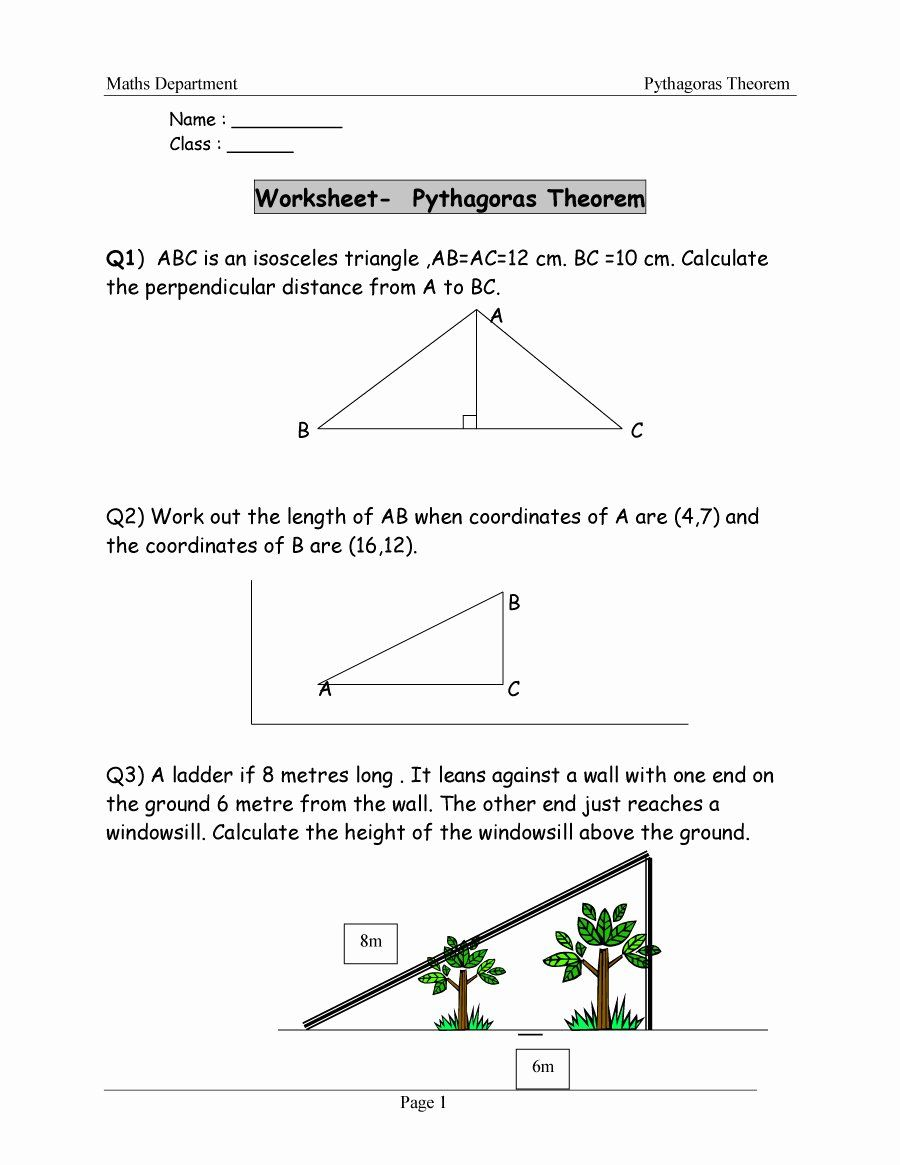 50 Pythagoras theorem Worksheet Pdf in 2020 (With images