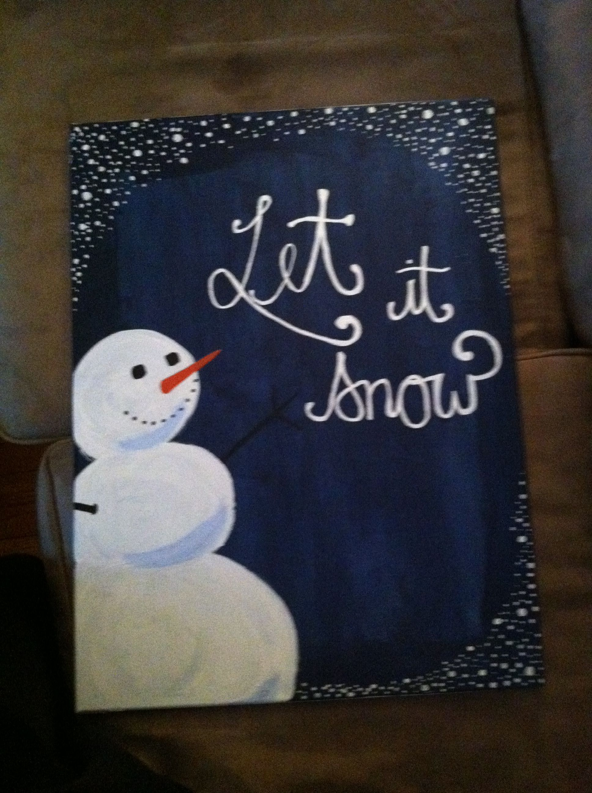 Snowman painting Christmas paintings on canvas