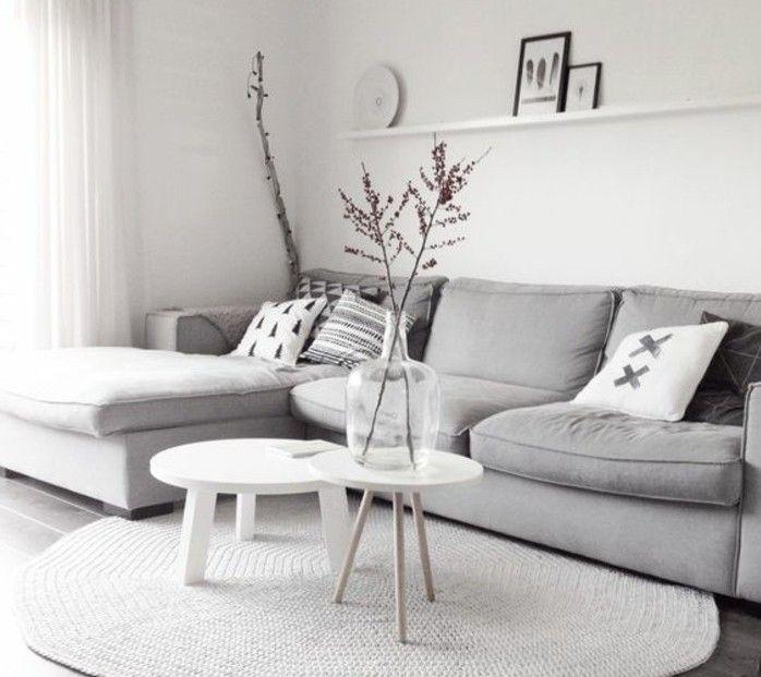 Bon Un Salon En Gris Et Blanc, Cu0027est Chic! Voilà 82 Photos Qui En Témoignent Idees De Conception De Maison