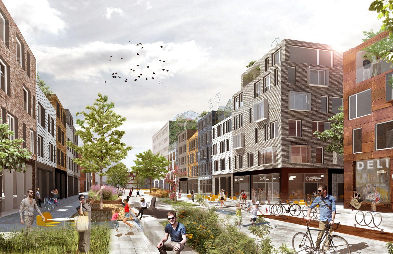 Nya Eriksberg Projekt Kjellander Sjöberg Arkitektkontor Streetscape Design Landscape Architecture Design Urban Design Architecture
