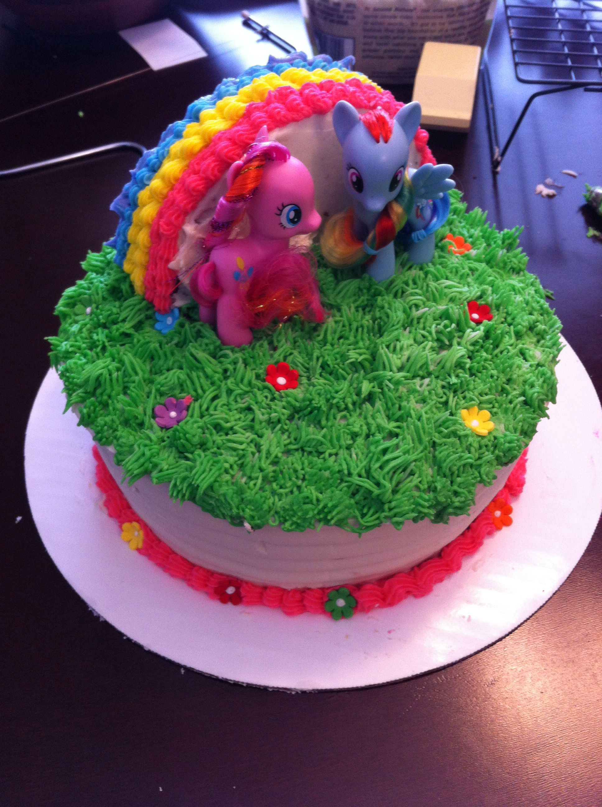My Little Pony Cake Easy To Make No Fondant With Images My