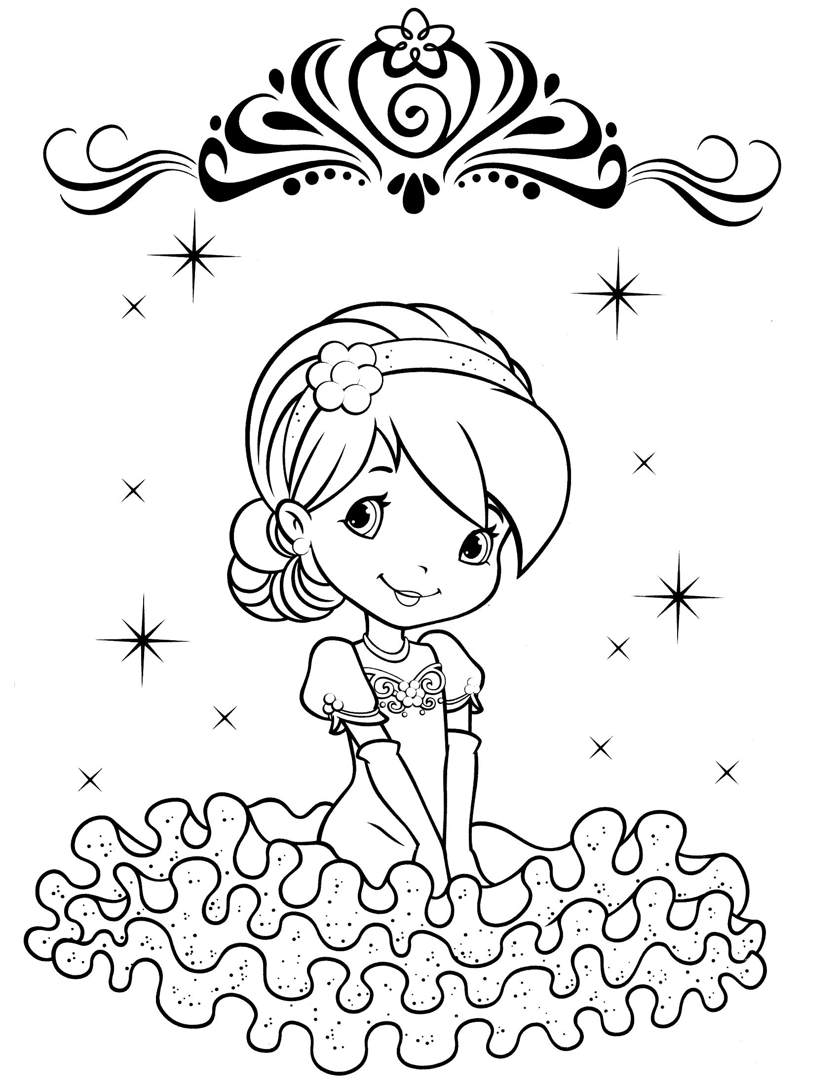 strawberry shortcake coloring page | Coloring books | Pinterest ...