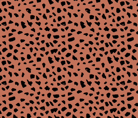 Colorful Fabrics Digitally Printed By Spoonflower Black And Copper Brown Abstract Dalmatian Spots And Dots Leopard Animal Skin Organic Trendy Gender Neutral G In 2020 Geometric Print Animal Skin Leopard Animal