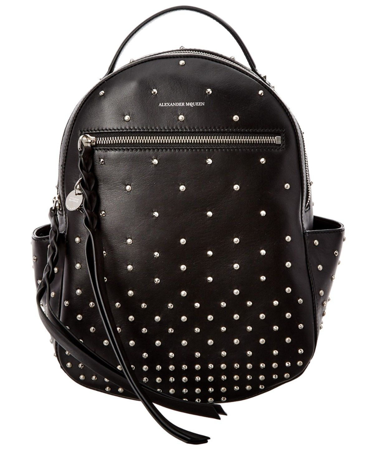 8f91ac68260c ALEXANDER MCQUEEN Alexander Mcqueen Studded Leather Chain Strap Backpack .   alexandermcqueen  bags  leather  lining  backpacks