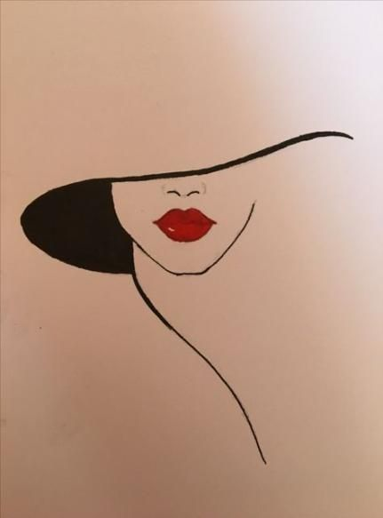 Hat Drawing Lady 62 Ideas For 2019 #drawing #hat