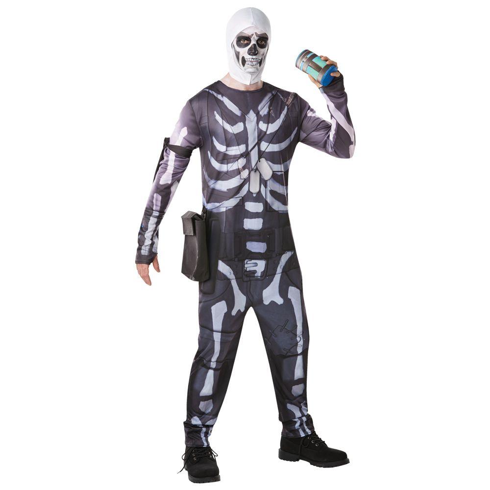 Disfraz Skull Trooper Fortnite Adulto Miles De Fiestas Disfraz De Soldado Disfraz Fortnite