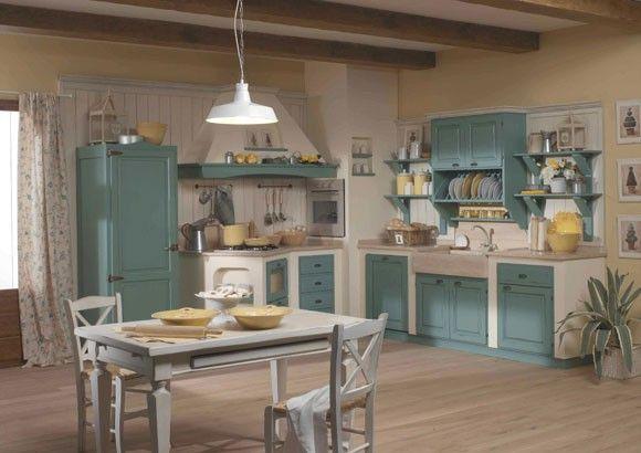 pareti stile shabby - Cerca con Google | cucine in muratura ...