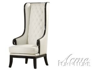 Peachy Pedro Black And White Accent Chair With Long Back Acme Bralicious Painted Fabric Chair Ideas Braliciousco