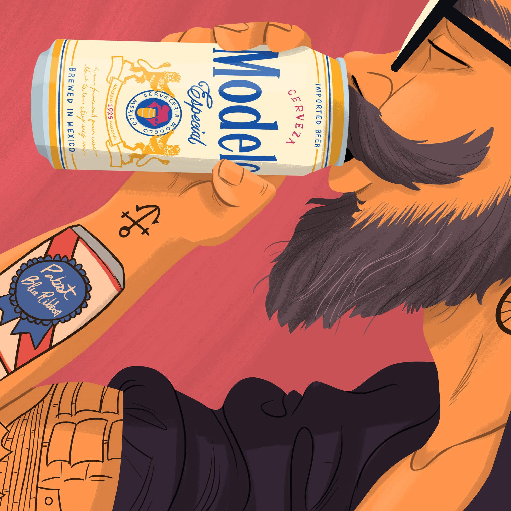 The New King Of Hipster Beer Is Here Beer Hipster Modelo Beer Hipster