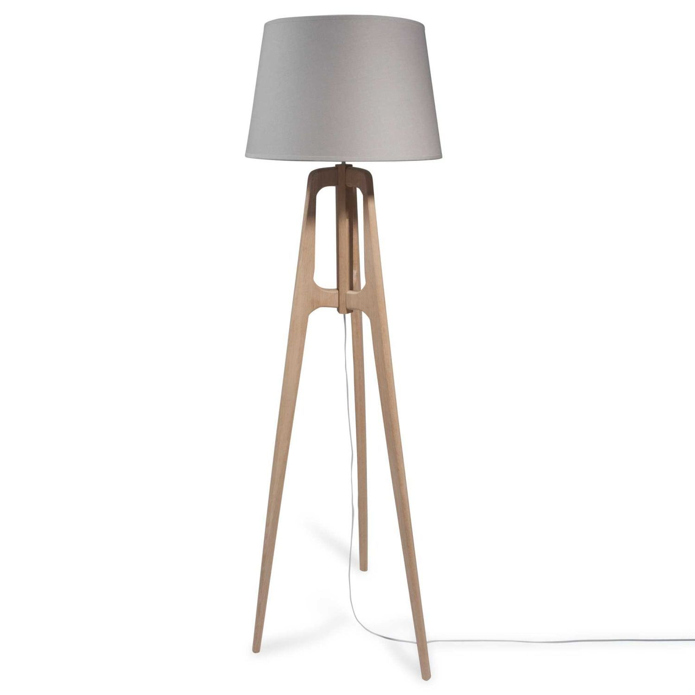 40,6/cm Gris clair//acier Effet Lin Abat-jour//lampe de table//lampe de plafond 40/cm