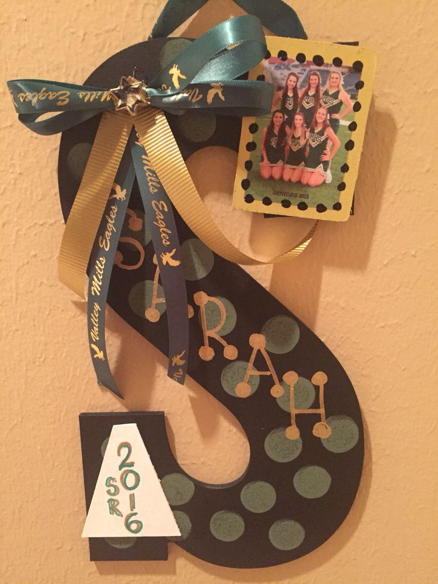 Senior cheerleader gifts cheerleaders pinterest for Cheerleading decorations