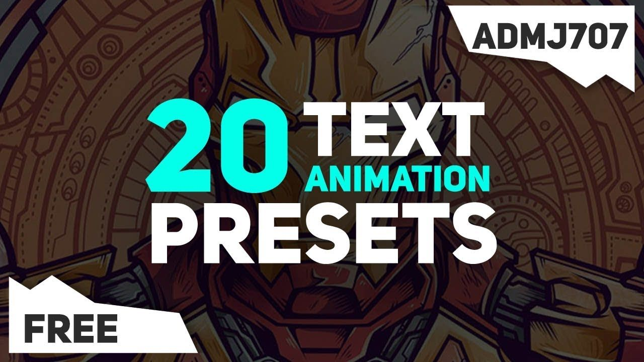 Free 20 Text Animation Presets Pack After Effects Kinetic
