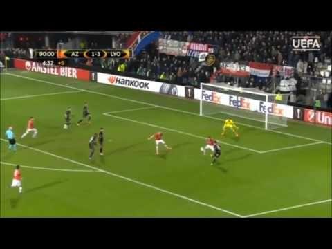 Lacazette double for Lyon Europa League Highlights 16/02/2017 - YouTube