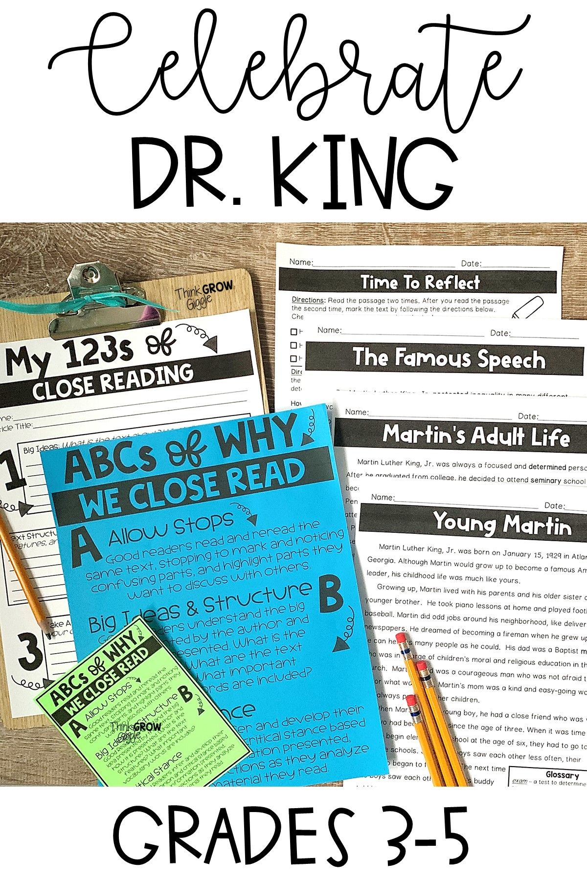 Martin Luther King Jr Reading Passages And Comprehension