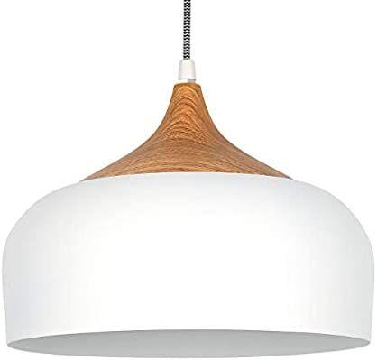 Tomons Pendelleuchte Weiss Led Deckenlampe Skandinavisch Moderner Simpler Stil Fur Wohnzimmer Esszim In 2020 Beleuchtung Wohnzimmer Decke Hangeleuchte Beleuchtung Decke
