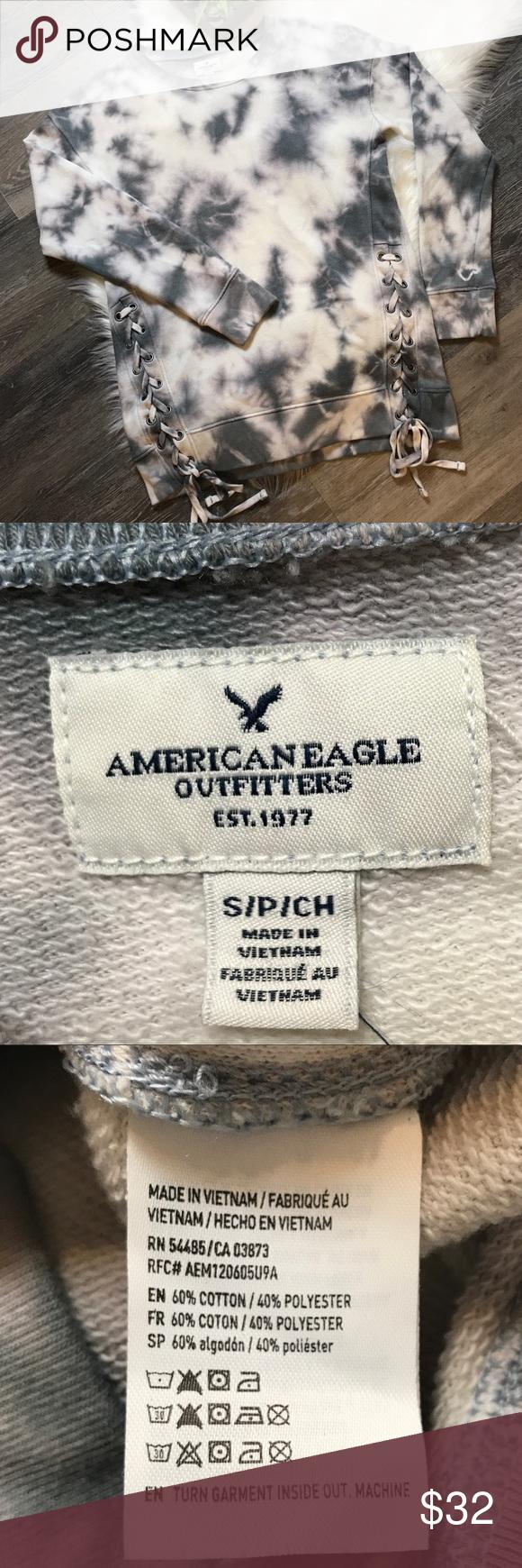American Eagle Tie Dye Lace Up Sweatshirt American Eagle Tie Dye Lace Up [ 1740 x 580 Pixel ]