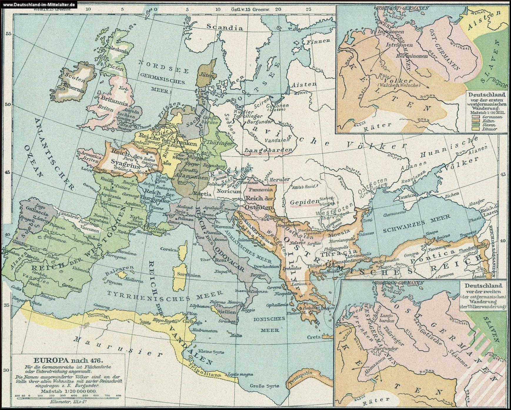 Landkarten Zur Volkerwanderung Volkerwanderung Landkarte Karten