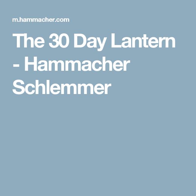 The 30 Day Lantern - Hammacher Schlemmer