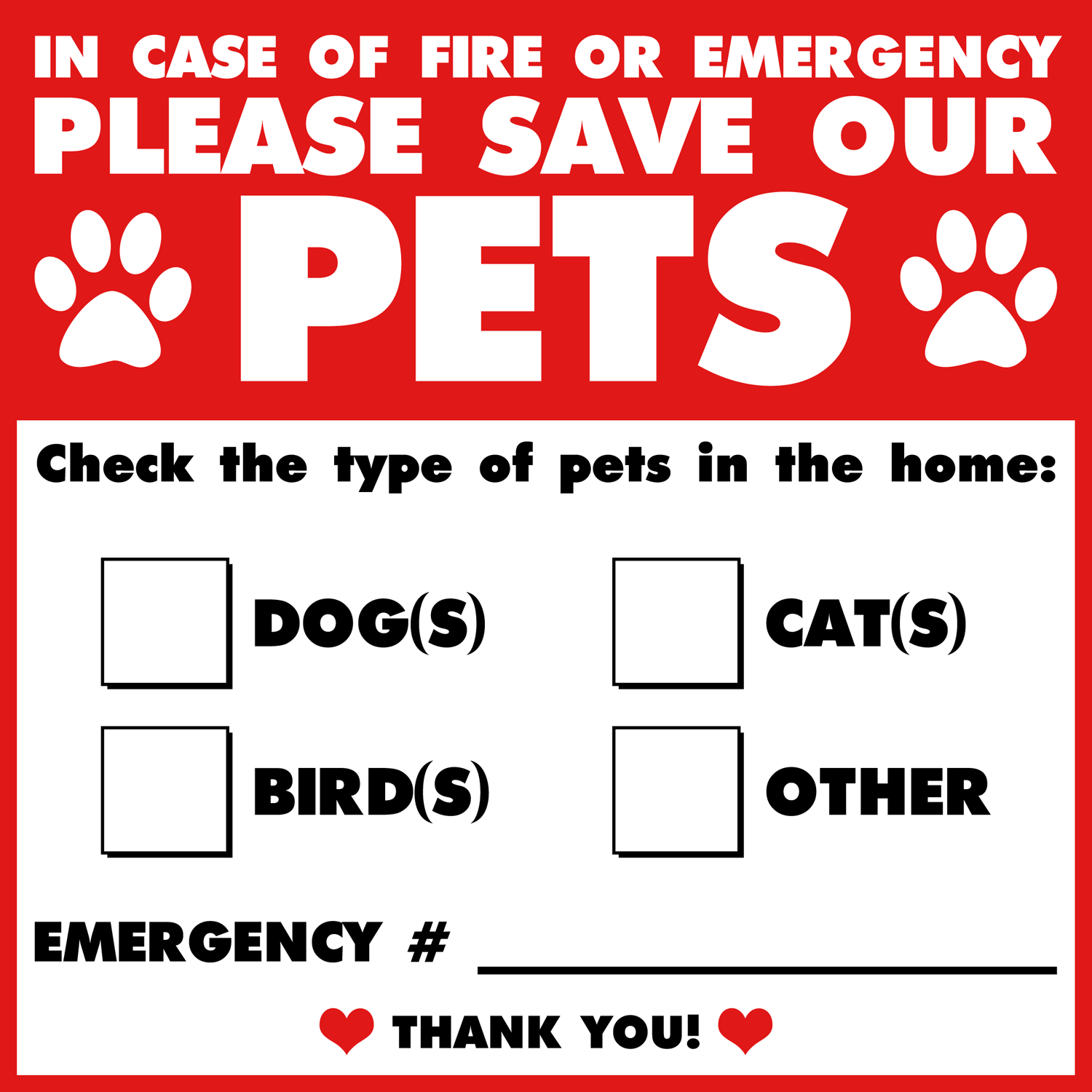 Signs and Plaques 46299: Dog, Cat Pet Safety Alert Sticker Rescue Window  And Door