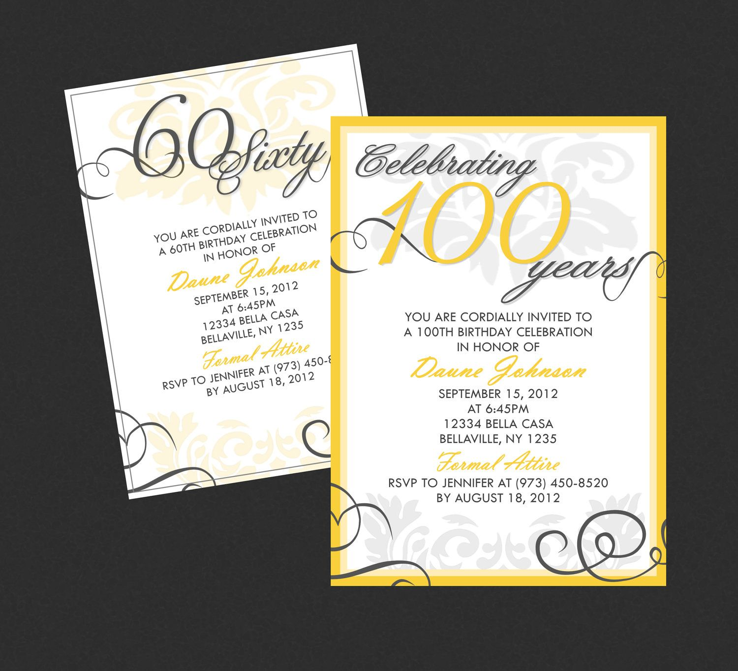 Elegant Adult Birthday Invitation