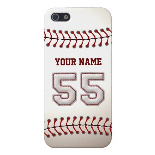 Player Number 55 - Cool Baseball Stitches iPhone 5 Case