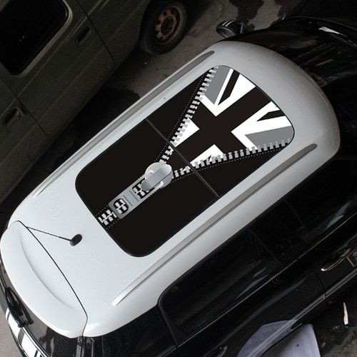 MINI COOPER Car Sun Roof British Flag Street Art Graffit Graphic - Bmw mini roof decals