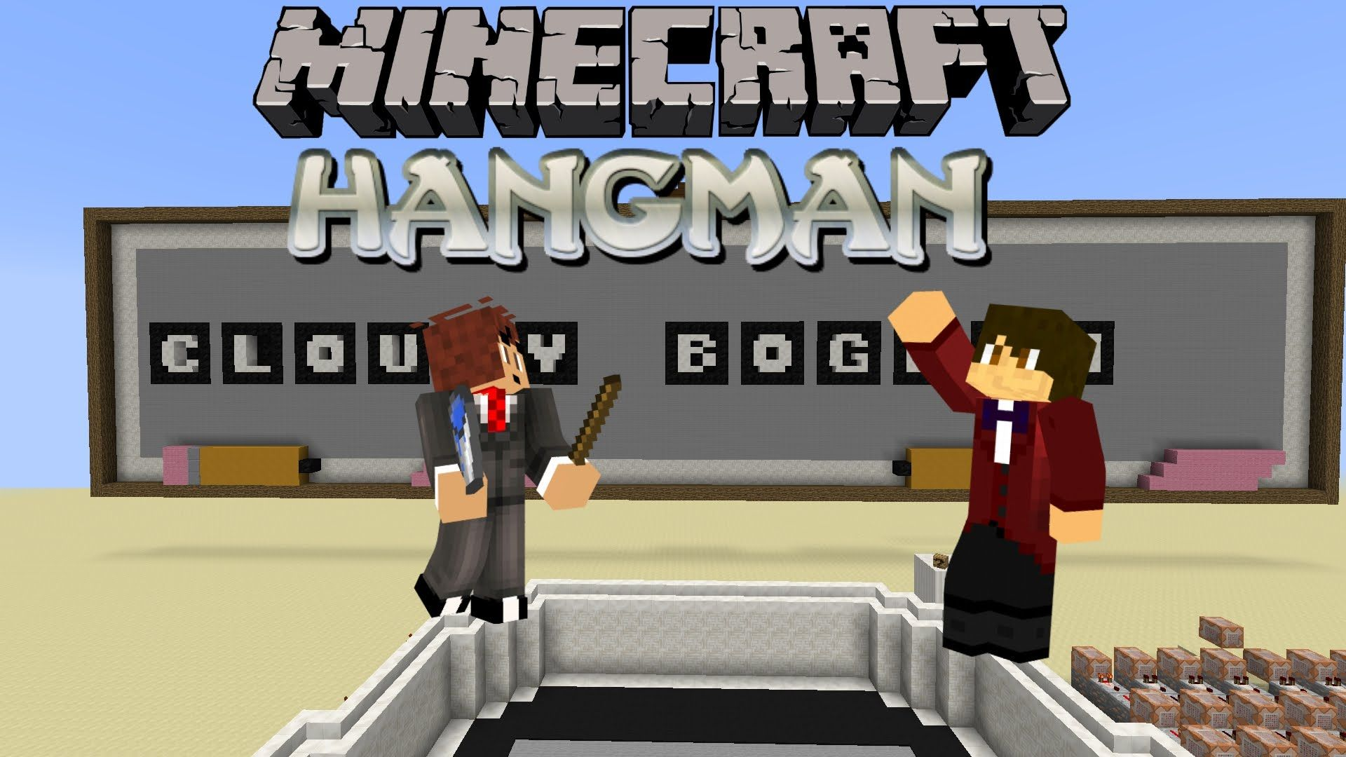 Hangman Map for Minecraft 1.8.8 The Hangman map for