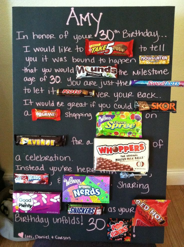 Image Result For 16 Birthday Candy Poster 30th Birthday Gifts 30th Birthday Parties 30th