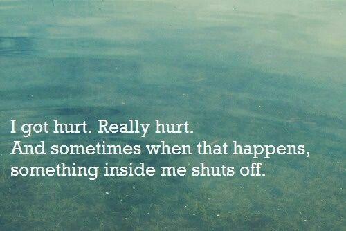 Shut down emotionally
