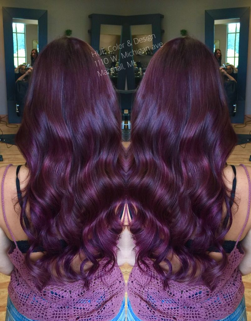Violet Red Hair Color With Matrix Color Line Socolor Purple Hair