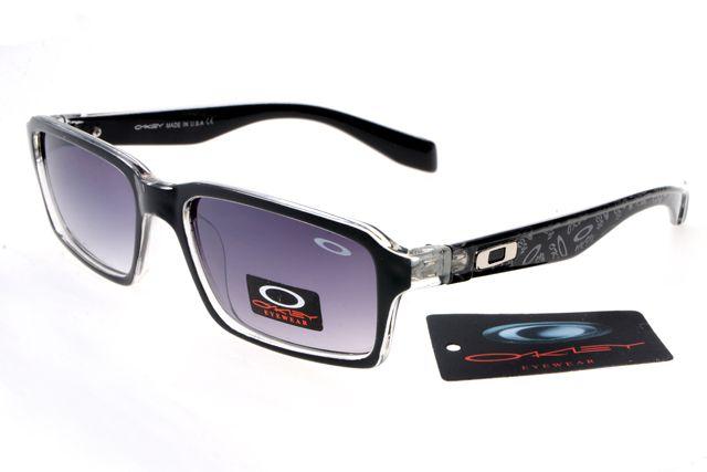 Oakley Deringer Sunglasses Black Pattern Frame Gray Lens 0237