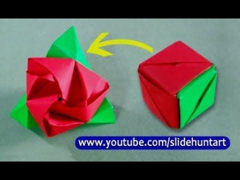 How to make a paper magic rose cube step by step - YouTube | Paper magic, Origami rose, Origami toys