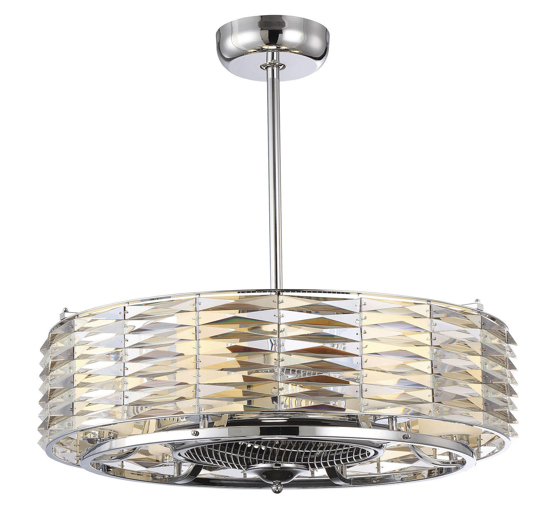 Taurus 6 Light Air Ionizing Fan D'lier