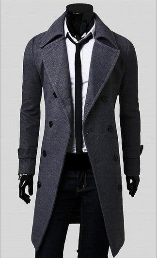 Men S Casual Perfect And Comfortable Gray Coat Looksgud In