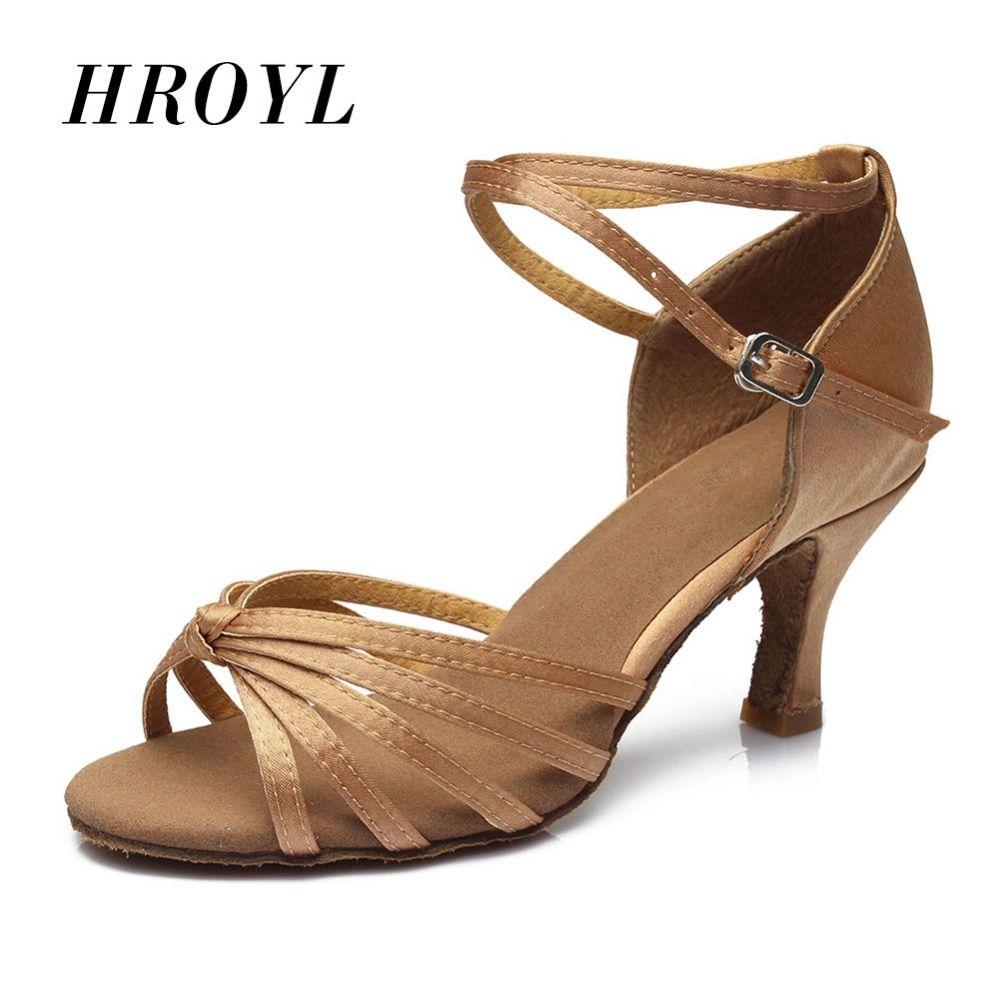 DILEECHI platform high heeled Leopard satin Latin dance shoes female adult Ballroom  dancing shoes Salsa samba Tango shoes-in Dance shoes from Sports ... c4a946fbf072
