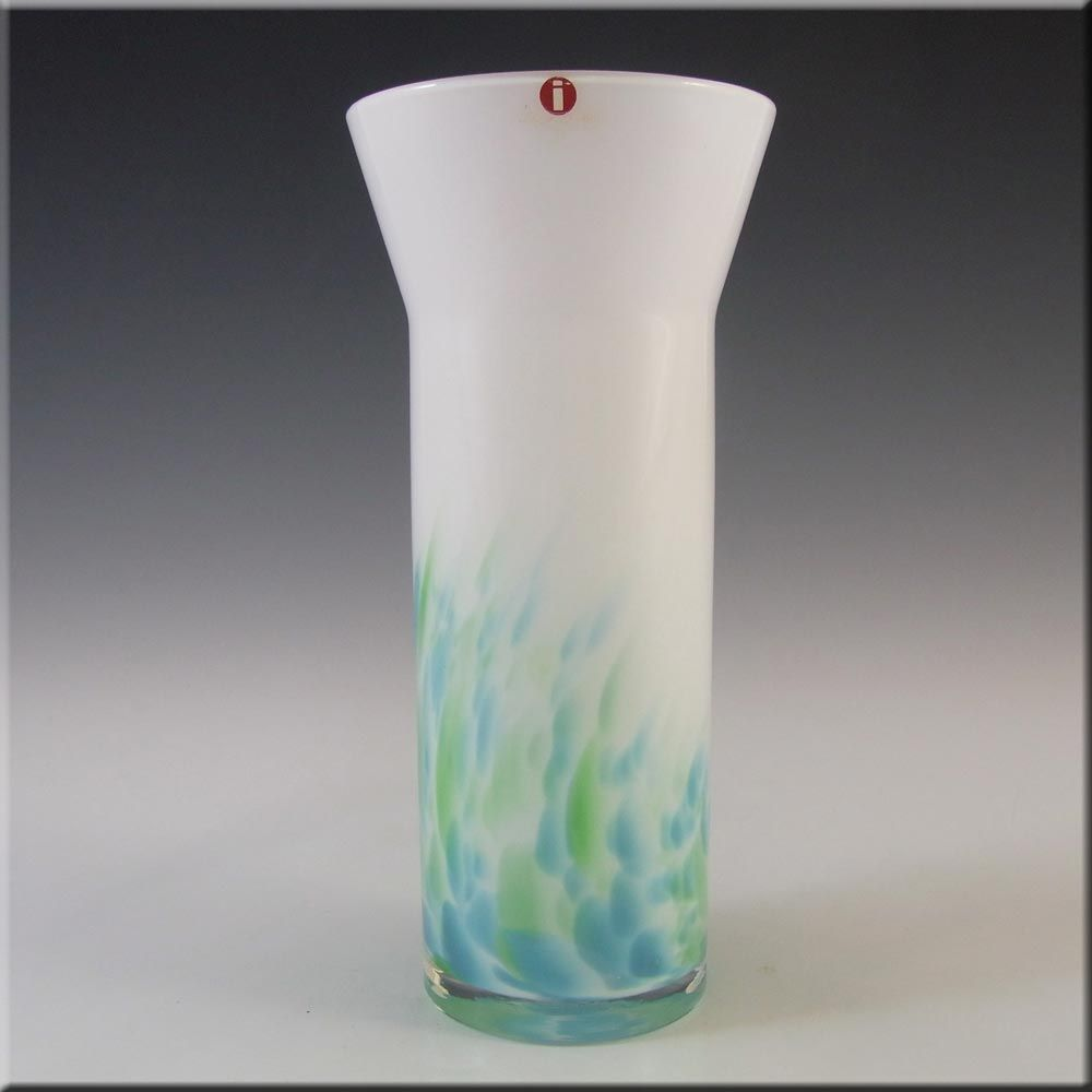 Labelled Iittala Glass Akvarelli Vase By Mikko Karppanen