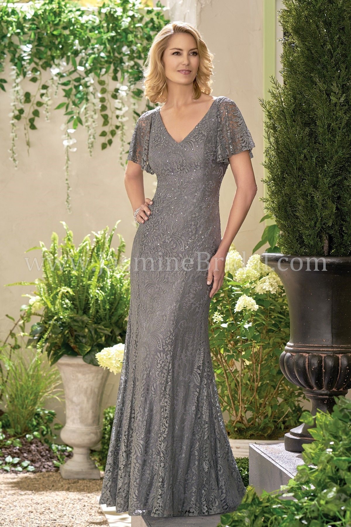 Jade colored mother of bride dresses